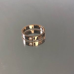 Cartier 18K Rose Gold Love RingW/diamond